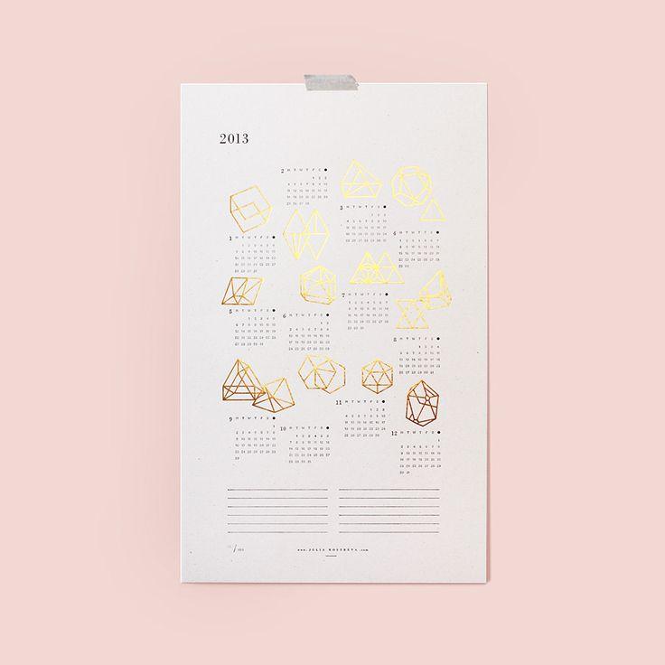 2013 Prisms Calendar. $33.00, via Etsy.