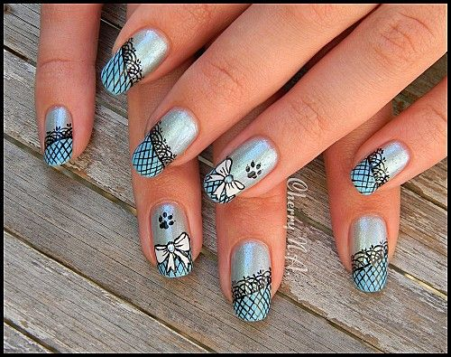 nail art design deco ongles resille dentelle noeud copie 4 jpg nailart arabesques filigree. Black Bedroom Furniture Sets. Home Design Ideas