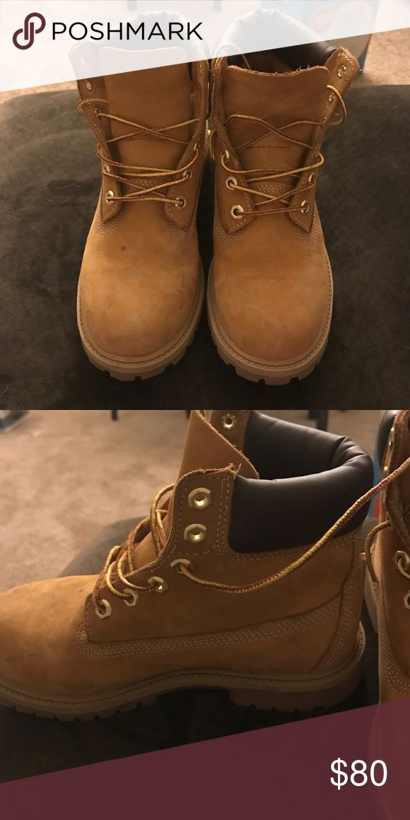 kids timberland boots (unisex) good condition   worn for 1 winter Timberland Shoes Rain & Snow Boots