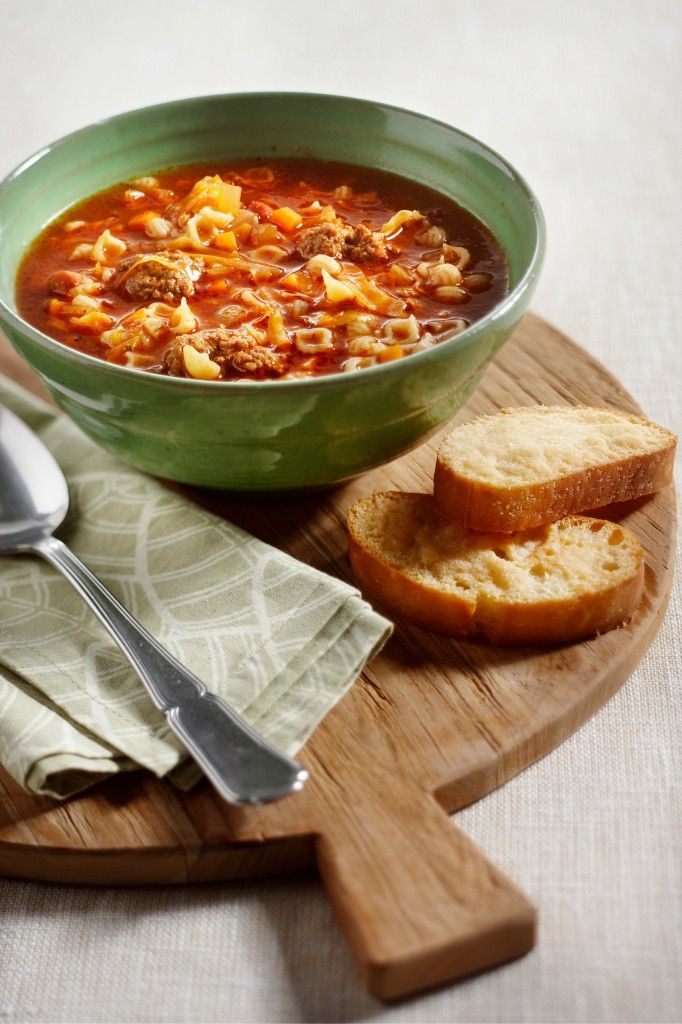Italiaanse groentesoep met Parmezaanballetjes - Boodschappen