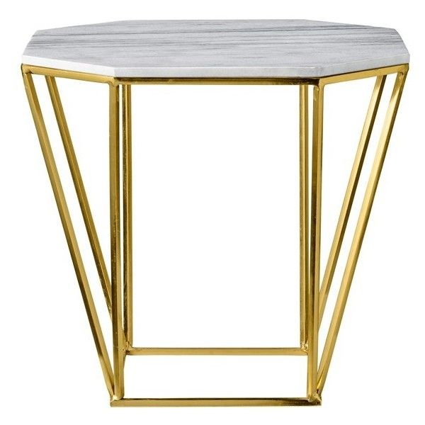 The Bloomin Couch Table For Two: Bloomingville 'Pentagonal' Accent Table ($214) Liked On