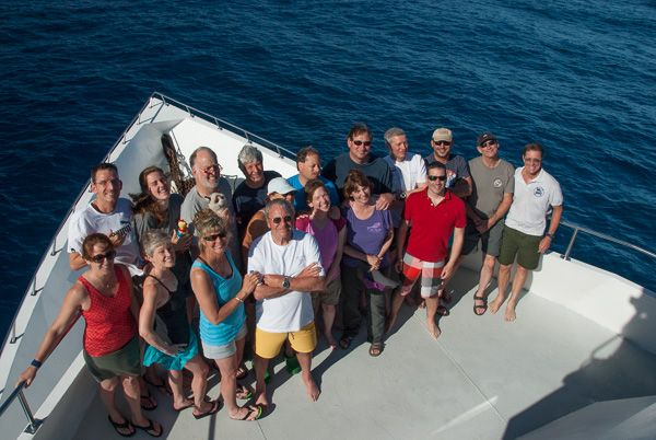 The 2 members of WEPA team are in this group, during the Socorro expedition 2015