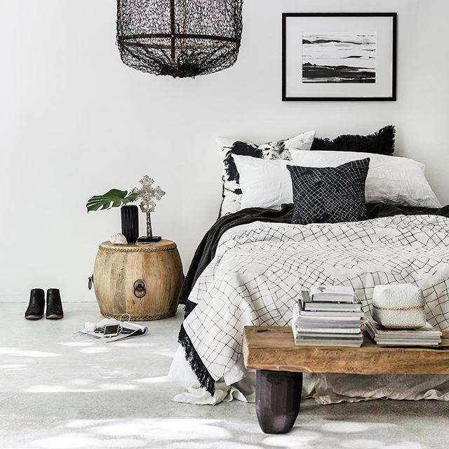 Blanc/Noir et bois