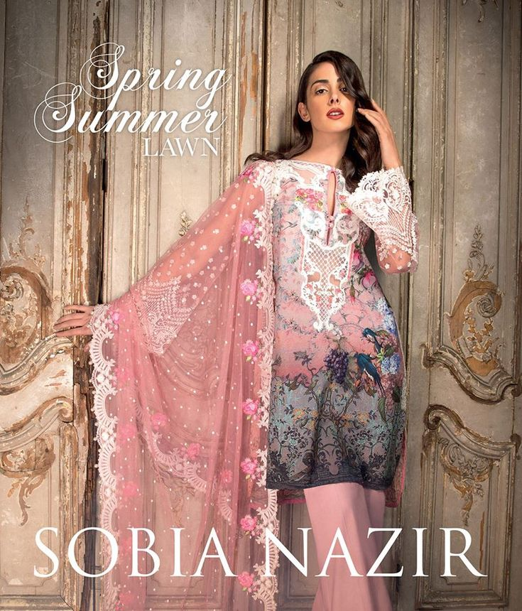 Sobia Nazir Spring Summer Lawn 2017 is available in stores on 14th march 2017. Online booking of this sobia nazir lawn dresses are starts form today mid nig
