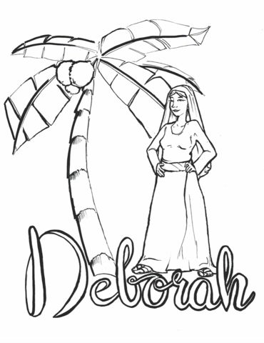 deborah judges bible coloring pages | Deborah Coloring Page | Bible coloring pages, Sunday ...