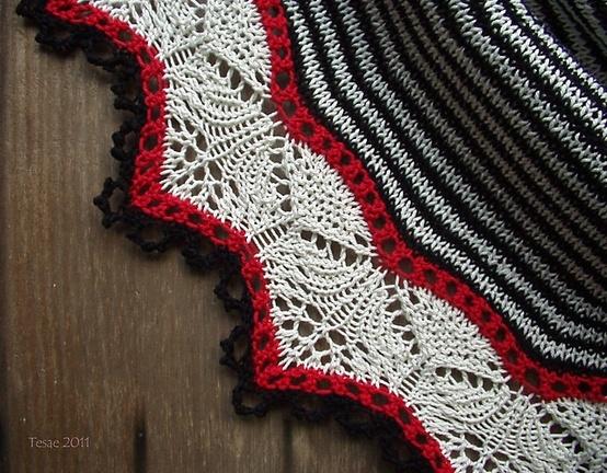 Beautiful knitting lace pattern