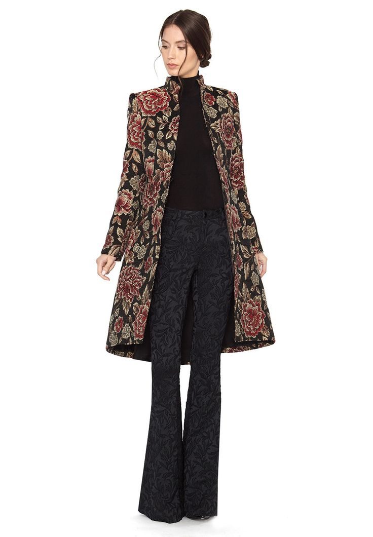 XIA MOCK NECK MIDLENGTH COAT by Alice + Olivia
