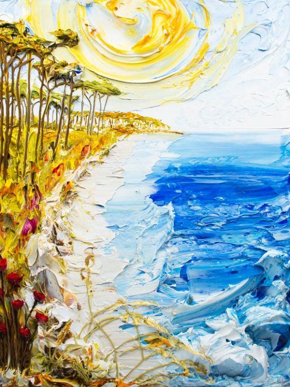 it would use a lot of paint but might be worth it. 93 best Ocean paintings images on Pinterest   Ocean paintings  Oil