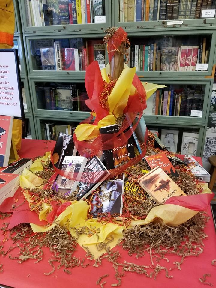 Fahrenheit 451 Banned Books display at Burke's Book Store in Memphis, TN 2017