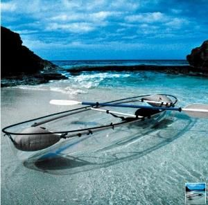 transparent boat!: Idea, Clear Water, Buckets Lists, Glasses, Transparent Canoeing, The Ocean, Hammacher Schlemmer, Canoeing Kayaks, Transparent Kayaks
