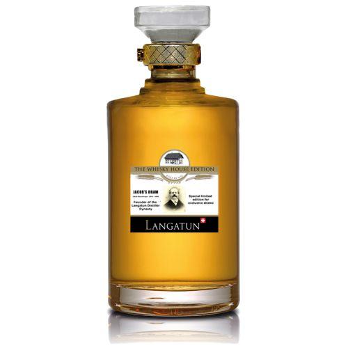 Produktion  Diese spezielle Abfüllung haben wir dem Gründer der LANGATUN Destillateuren-Dynastie gewidmet. Einzelfassabfüllung, destilliert 23.9.2009, abgefüllt am 8. Juni 2015, nicht eingefärbt, 100% reiner Gerstenmalz-Whisky. Limitierte Edition von 560 Flaschen. Ausgebaut im Pinot Noir Fass # 97.