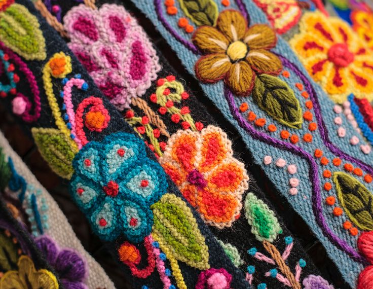 Arte en telas colores asombrosos que los artesanos de - Artesanias con telas ...