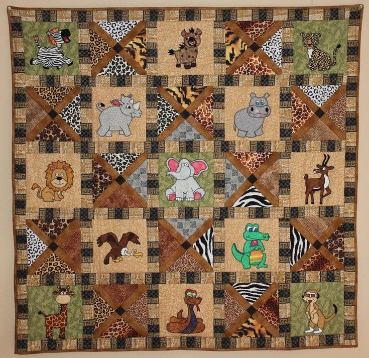 African safari animal pdf quilt pattern etsy quilt