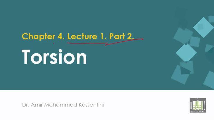 الفصل الرابع - محاضرة 1 ج2 معادلات الفتل