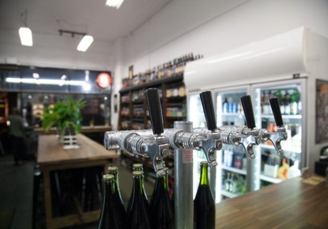 You can now drink your beer at this specialist beer shop. Slowbeer, Bridge Road, Richmond.