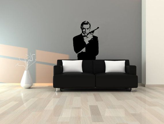 James Bond 34x22 Wall Decal by VinylTherapy on Etsy, $29.99