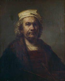 "Anónimo (Copia Rembrandt), ""Autorretrato"", siglo XVII, óleo sobre lienzo, 81 x 65 cm"