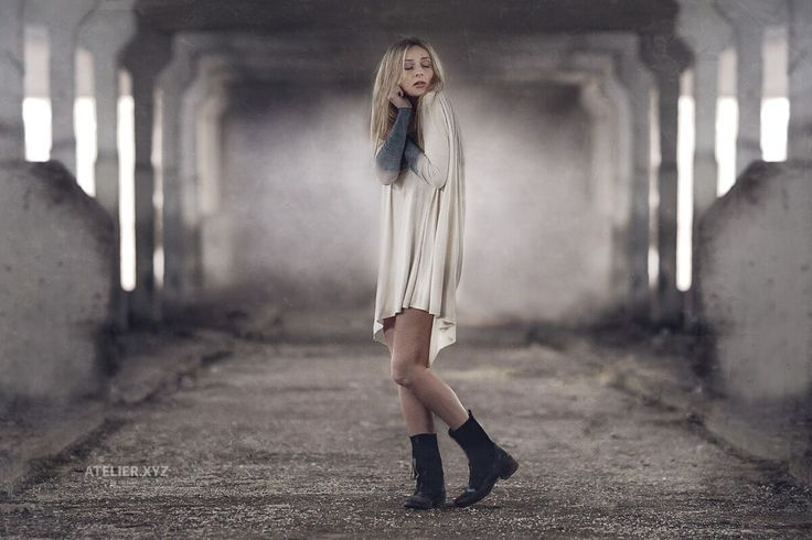 Katarzyna Palcik dress http://the-shadow-wolf.blogspot.com/  #shadowwolf #underground #tunic #ombre #katarzynapalcik #lumberjack #boots