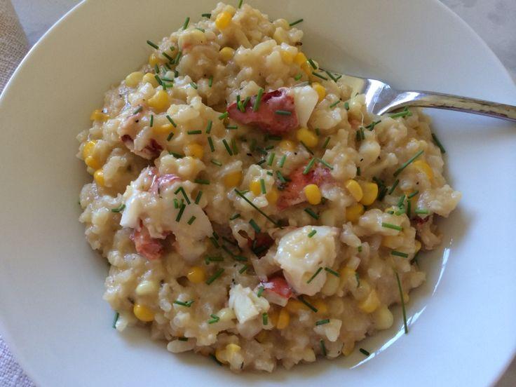 Sweet Corn & Lobster Risotto | Recipe | Sweet corn, Sweet ...