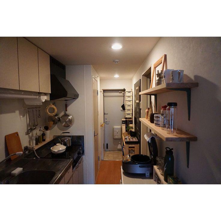 観葉植物/構造用合板/DIY/有孔ボード/一人暮らし/ハンドメイド…などのインテリア実例 - 2016-02-28 17:40:49 | RoomClip(ルームクリップ)