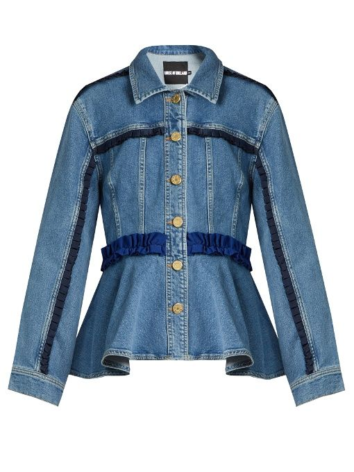 HOUSE OF HOLLAND Frill-trimmed denim jacket. #houseofholland #cloth #jacket