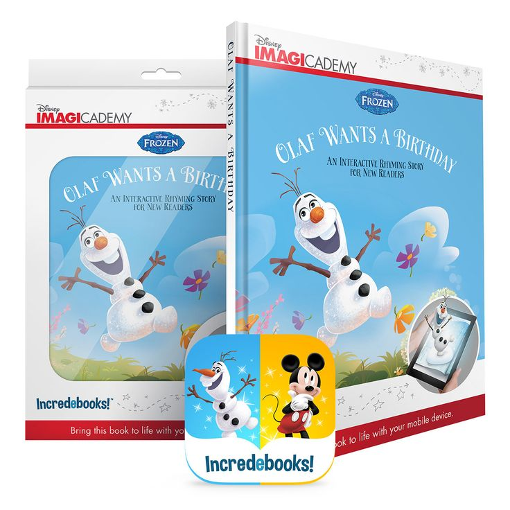 Olaf Wants A Birthday by Incredebooks is a book that connects to your mobile device. Scan the special pages and see the story come to life in 3D!  #augmentedreality #shopifypicks #earlyliteracy
