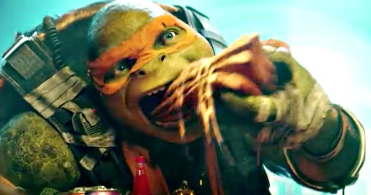 Casey Jones Meets Mikey in 'TMNT 2' Trailer #2 Teaser -- April O'Neil and Casey Jones look on as Mikey scarfs down pizza in a preview for the second 'Ninja Turtles 2' trailer, debuting this Monday. -- http://movieweb.com/teenage-mutant-ninja-turtles-out-of-shadows-trailer-2-teaser/