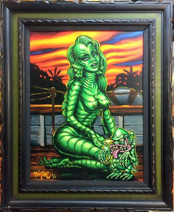 BigToe's Black Lagoon Lolita giclee print with artist by BigToeArt, $400.00