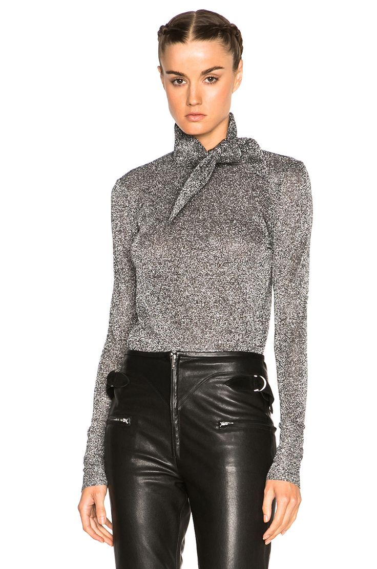 Image 1 of Isabel Marant Lurex Knit Sweater in Silver