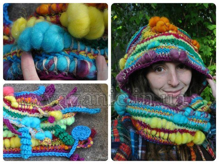 Оригинальный шарф капюшон | ЛУЧШИЙ САЙТ ПО ВЯЗАНИЮ