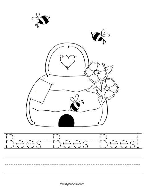 beehive with honey bees worksheet homeschool teaching pinterest honey bees honey and bees. Black Bedroom Furniture Sets. Home Design Ideas