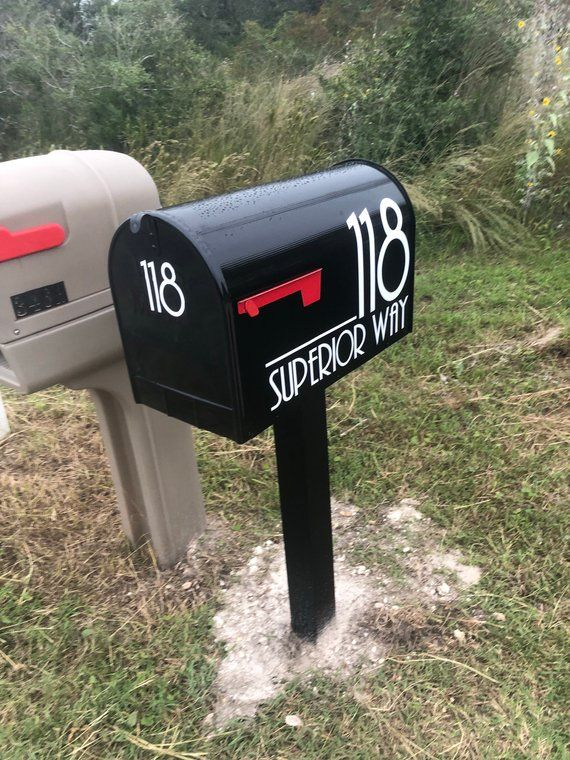 Modern Mailbox Numbers Modern Numbers For Mailbox Or Front Etsy Mailbox Numbers Mailbox Decals Mailbox Decor