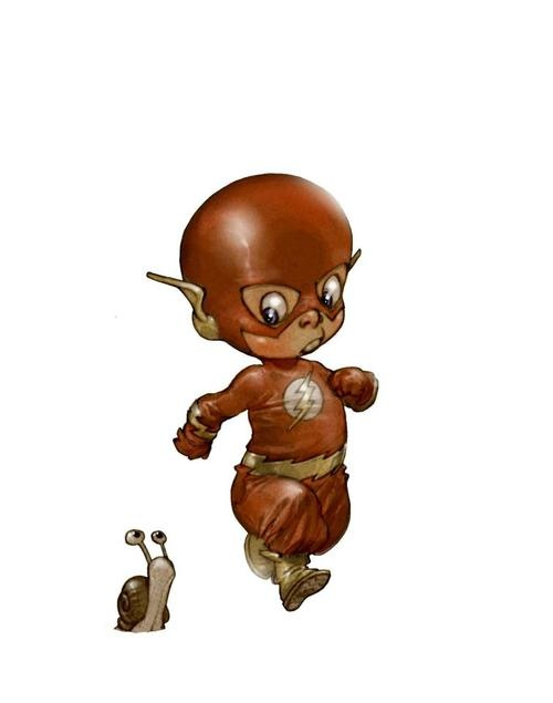 Kid Flash by Alberto Varanda; i might catch diabetes from these, they are so adorable :)