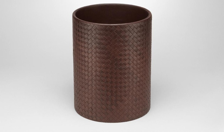Bottega Veneta®|Intrecciato Nappa Waste Paper Basket|Desk accessory|Living