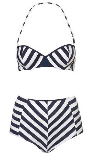 Retro Swimsuit BY Topshop