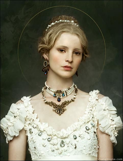 Photography: Zhang Jingna zemotion Hair: Junya Nakashima Hair Makeup: Tatyana Kharkova Model: Germaine Persinger Assistants: Tiffany Liu, Melissa Castor, Evenlyn Liu  Dress: Leonid Gurevich. Necklaces: Harlequin Romantique