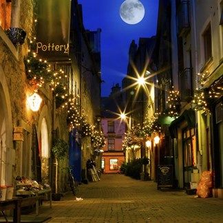 Old City Street At Night, Galway