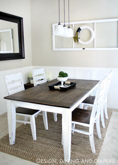 DIY Dining Table And Chairs Makeover U2022 Ideas U0026 Tutorials, Including This  Farmhouse Table Makeover