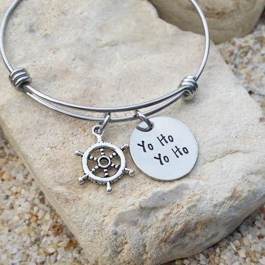 Jewlery - Disney - Bangle - Bracelet - Yo Ho - Pirates - Gift for Her - Disney Jewelry