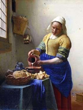 La grâce de Vermeer au LouvreEn collaboration avec la National Gallery of Ireland et la National Gal... - Johannes Vermeer, La Laitière, Amsterdam, Rijksmuseum © Rijksmuseum