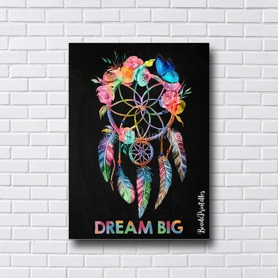 Dreamcatcher Chalkboard Print  Dream Catcher Poster Print