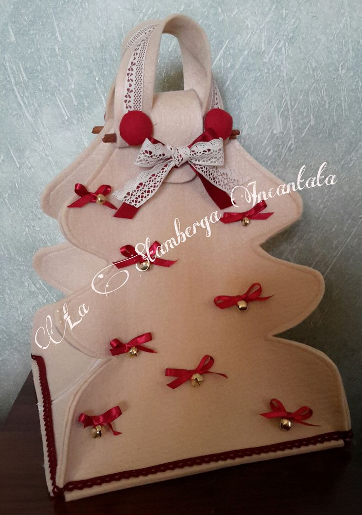 Porta dolci in feltro natalizio