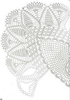 crochet pattern oval tea-cloth - Google otsing