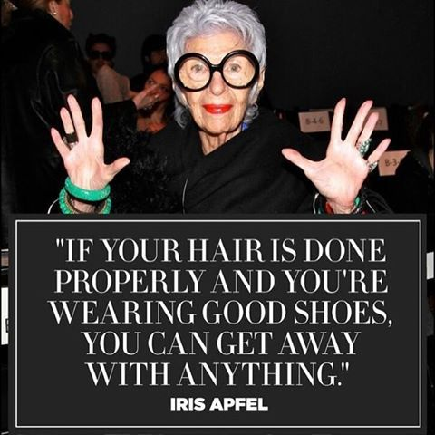 """Candy Spelling (@candyspelling) on Instagram: """"One last bit of wisdom and Humpday Inspiration for March from fashion icon@iris.apfel #humpday…"""""""