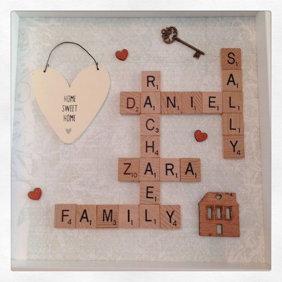 New home scrabble frame with large quote by ButtonNButterflies