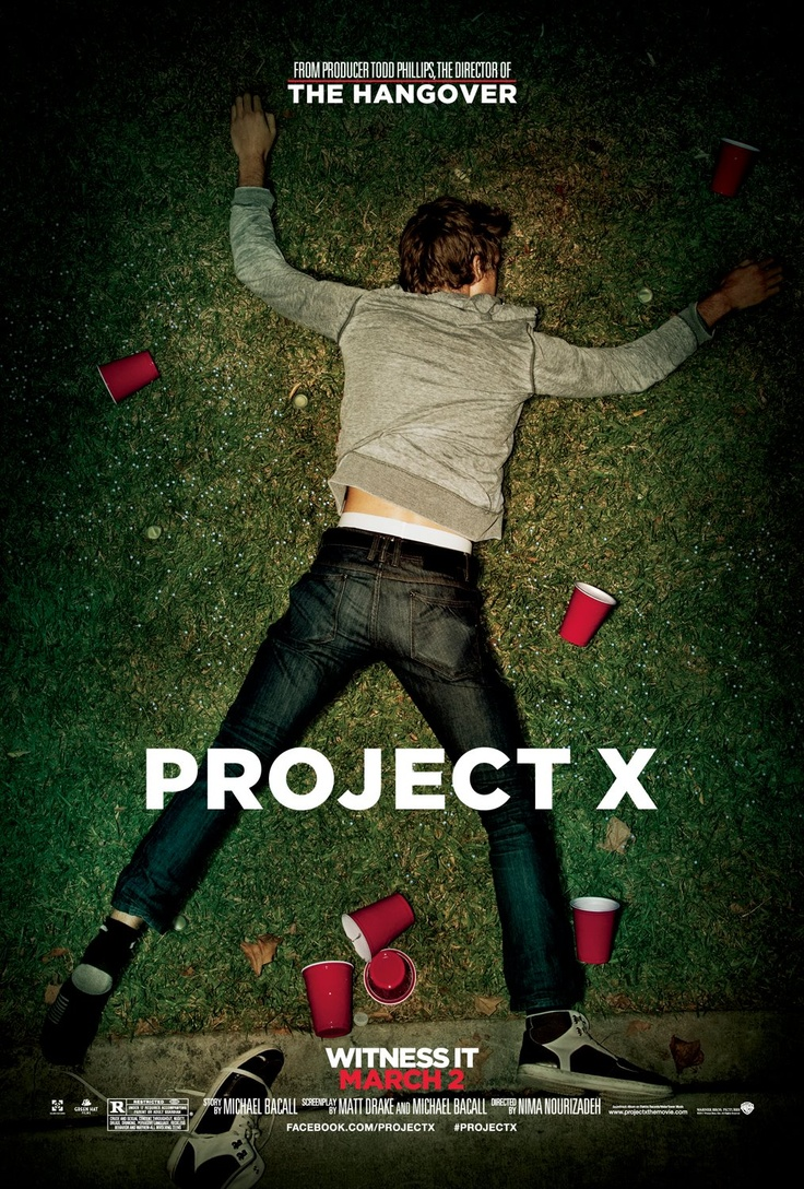 """Project X"" is an out-of-control comedy that follows a group of buds who set out to throw the most epic 17th birthday party ever. The film documents a high school party that gets completely out of control, shot from the perspective of the digital cameras that the kids have with them."