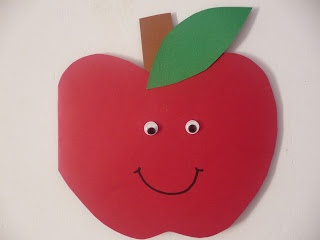 Maro's kindergarten: Card for World Food Day October 16 (or apple craft and writing activity)