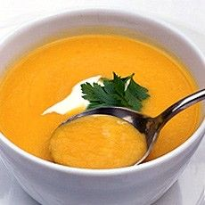 Jerusalem artichoke and carrot soup - what we had for dinner. I substituted celery for cabbage. So delicious!