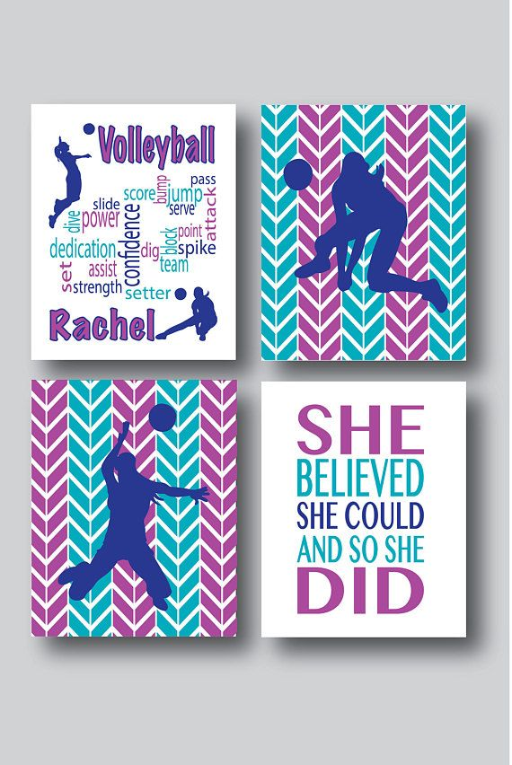 Hey, I found this really awesome Etsy listing at https://www.etsy.com/listing/250973147/set-of-4-prints-volleyball-decor