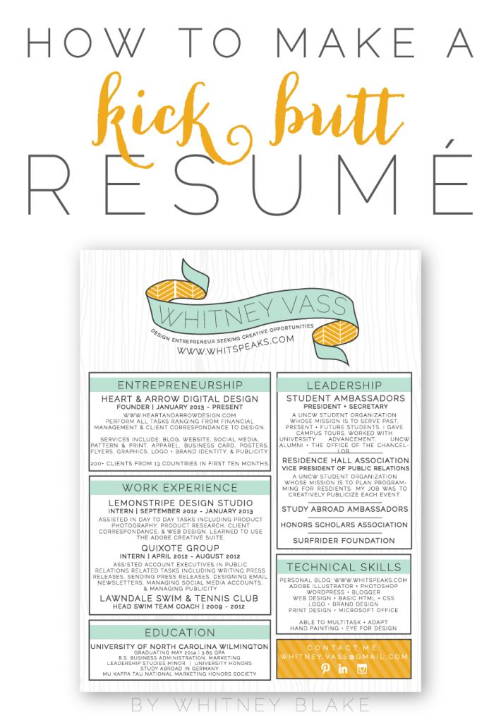 how to make a resume for work